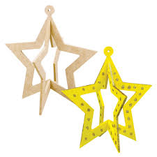 3d wooden star with cutout pack of 20 wood craft cleverpatch art craft supplies