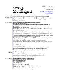 Resume Header Examples
