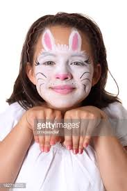 Small Picture Bunny Face Paint Stock Photo Getty Images