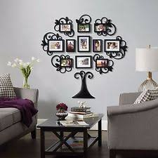 12 piece family tree photo picture frame collage set black wall art home decor on family tree wall art picture frame with 12 piece family tree photo picture frame collage set black wall art