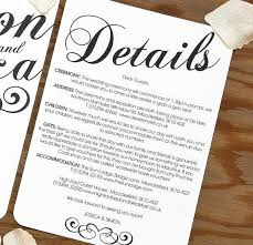 Fresh Wedding Invitation Accommodation Insert Template Theruntime Com