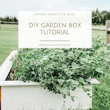 diy raised planter box tutorial