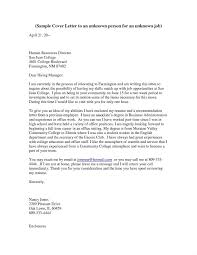 Cover Letter To Unknown Recipient Collection Of Solutions Cover