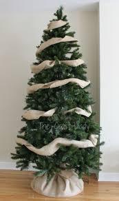 Diy Burlap Garland For Christmas Tree