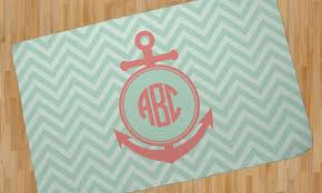 chevron anchor area rug personalized youcustomizeit