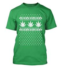 Unisex Pot leaf T-shirt ugly Christmas sweater mock weed by ...
