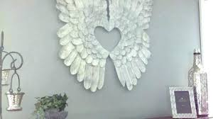 full size of best ideas about angel wings wall decor on metal with heart white feather
