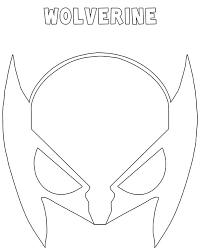 Maschera Wolverine Da Stampare Ritagliare E Colorare Una Mamma Si