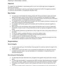Garment Merchandiser Resume Resume Retail Merchandiser Resume Sample