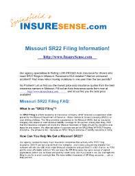 Missouri dwi laws & penalties. Fillable Online Missouri Sr22 Filing Information Fax Email Print Pdffiller