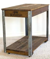 side table industrial rustic industrial coffee side table wide x long x 3 4 side table industrial style