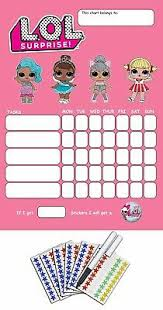 Lol Sticker Chart Girls Reward Chart Jasonkellyphoto Co