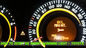 2012 Toyota Corolla Dashboard Lights How To Reset The Maintenance Warning Light In A Toyota Corolla Diy