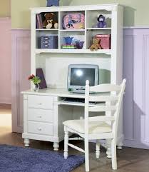small white writing desk with hutch for kids
