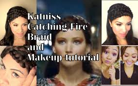 katniss braid cheat and makeup tutorial hunger games catching fire you