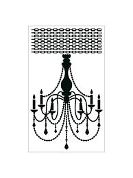 chandelier a wall sticker
