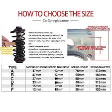 Spring Buffer Size Chart 2pcs Universal Car Shock Absorber Spring Bumper Power Auto Buffers A B C D E F Type Spring Bumpers Rubber C Type