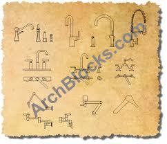 autocad faucet symbols 01