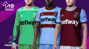 Their new umbro home kit is about as classic as they come, the simplistic claret and blue kit. Efootball Pes 2020 West Ham United Kits 20 21 By Aerialedson Pes Social