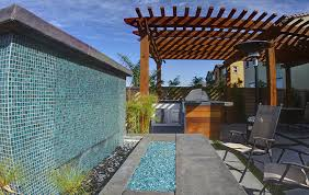 Mosaic Tiles Work For Water Walls As Good Pools