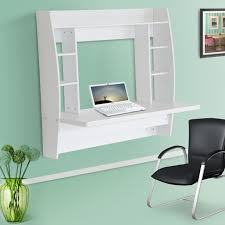 new wall mounted table office bedroom computer desk home furniture white
