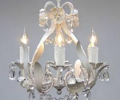 mini small white crystal chandelier bedroom baby nursery