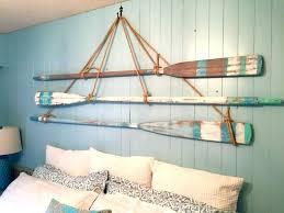 ideas of beach themed wall art paddle board wooden wood canoe boat decor steering wheel pretty