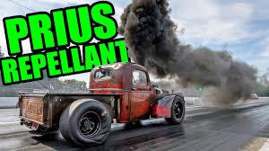 smokin diesel turbo rat rod pickup burnie youtube