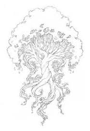 Small Picture Dryad tree goddess coloring page from Dover Publications