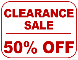 sale signs printable printable 50 percent off clearance sale sign free printables 2