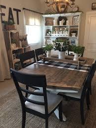 47 Rustic Farmhouse Kitchen Table Ideas Houzwee