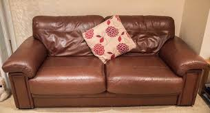 harveys brown leather 3 seater sofa and 2 leather chairs