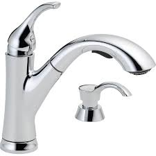 Kitchen Pull Out Faucet Shop Delta Kessler Chrome 1 Handle Pull Out Kitchen Faucet At