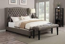 Linen Platform Bed King Fashionable Linen Platform Bed Bedroom Linen Platform Bed