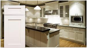 white shaker kitchen cabinets. Double Shade Hanging Kitchen Lighting Over Counter Island With White Shaker Cabinet In L Shaped Theme Cabinets