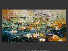 hommage a claude monet water lilies