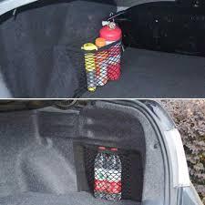 Car Back Seat Light Car Auto Rear Trunk Back Seat Light Weight And Durability Black Elastic Net Mesh Storage Bag Pocket
