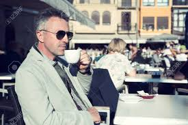 A few hours after you stop drinking it, alcohol causes an energizing rebound in. Man Drinks Coffee In Outdoor Cafe Handsome Middle Aged Man Posing Stock Photo Picture And Royalty Free Image Image 78426231