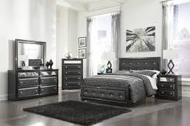 Manhattan Bedroom Furniture Collection Ashley Alamadyre Upholstered Panel Bedroom Set In Black