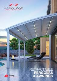 retractable awnings brochure 2018