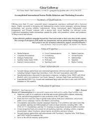 public relations sample resume public relations executive resume example
