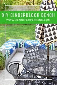 diy cinderblock bench