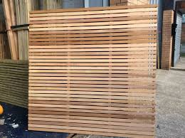 horizontal wood slat fence. Wonderful Horizontal High Tech Wood Slat Fence Blog Modern Slatted Panels Contemporary Fencing  Stockport  For Horizontal