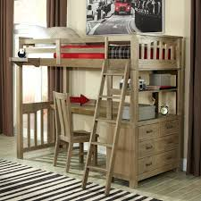 desk wood bunk bed with desk and dresser twin highlands loft bed in driftwood with
