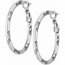 oval hoop charm earrings charm holders brighton hoop earrings