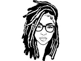Evelyndavid Black Woman Dreads Hairstyle Stylish Princess Diva Princess Queen African American Female Sticker Vinyl Decal Vector Clipart Digital