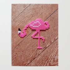 Get Well Soon Poster Get Well Soon Flamingo Power Poster By Heyk