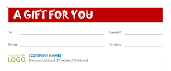 a gift certificate template with room for a logo save word templates