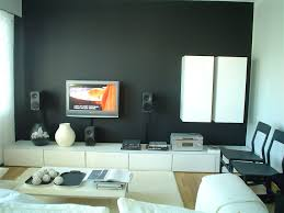 White Living Room Cabinets Living Room Great Small Modern Design Idea With Black Wall White