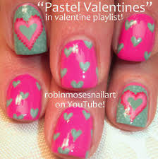 Pink and Teal Country valentine nails, Valentine nail art, nail ...